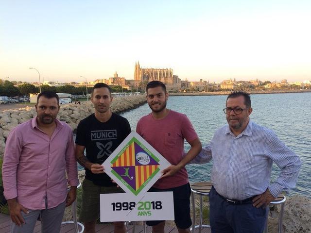 Tirado, Joao, Taffy y Jaume en la presentación (Foto: Palma Futsal)