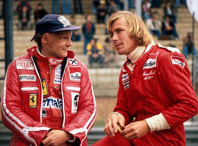 Lauda y su gran rival, James Hunt