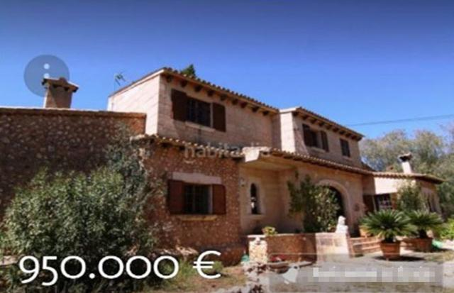 La finca publicitada por una inmobiliaria a 950.000 euros, cuando el Consell pagó supuestamente 1.200.000€