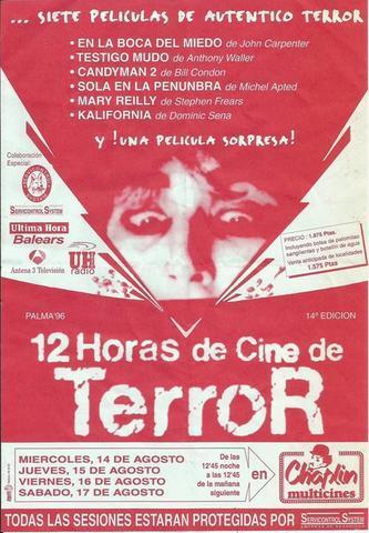 """Un cartel de una edición de las """"12 horas de cine de terror"""""""