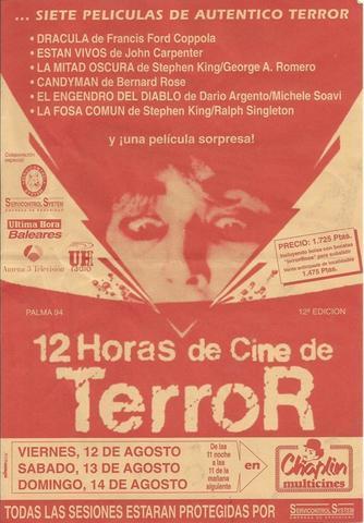 Otro cartel del popular maratón cinematográfico