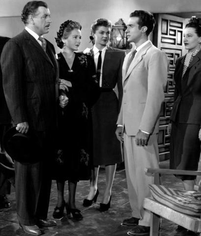 El palmesano, a la izquierda, en `Fiesta´(1947)