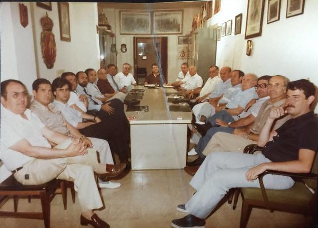 En 1981, celebrando en la Discoteca Alexandras el ascenso a Segunda B (Foto: archivo Familia Jaume)