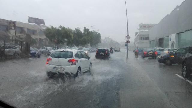 La lluvia, protagonista en agosto (Foto: Twitter Francisco Seguí)