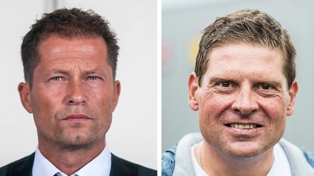 El actor y director de cine Til Schweiger y el exciclista Jan Ullrich