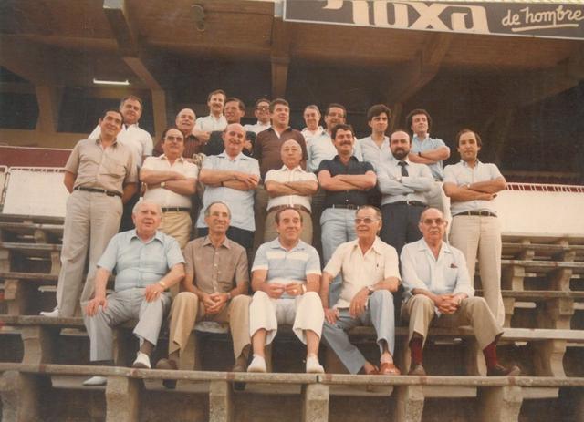 Una de las directivas de Miquel Contestí (Foto: archivo Familia Jaume)