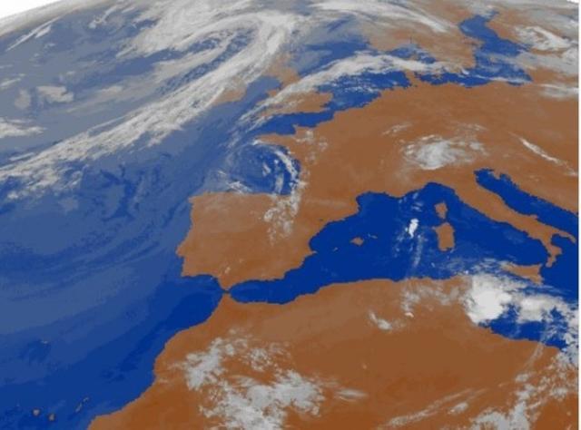 Mapa meteorológico para este martes, que anuncian lluvias en el norte de Mallorca (Foto: Aemet)