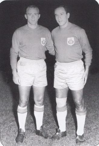 Di Stéfano y Juan Carlos Lorenzo en la noche del 14 de agosto de 1959