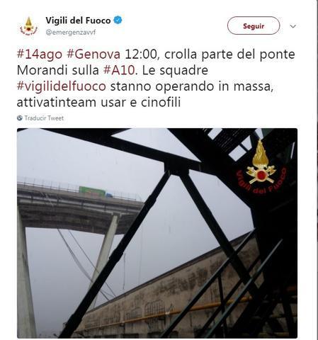 italia cae el puente morandi