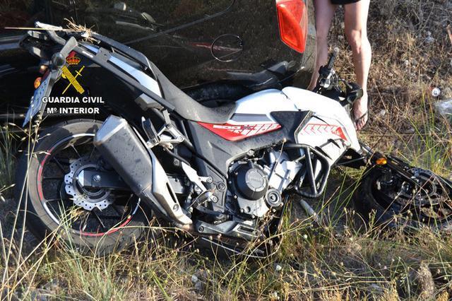 Imagen de la motocicleta (Foto: Guardia Civil)