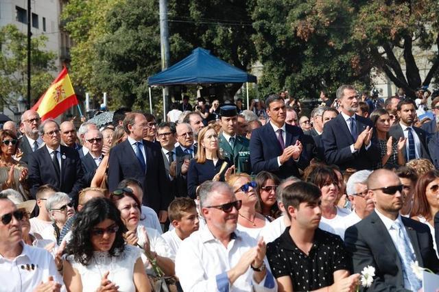 Los Reyes, en el acto en recuerdo de las víctimas y solidaridad por los atentados terroristas del 17 de agosto de 2017 en Barcelona y Cambrils (Foto: Twitter Casa Real)