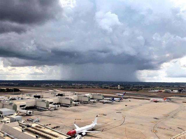 La previsión meteorológica adversa ha activado la alerta amarilla en Baleares (Foto: ENAIRE)