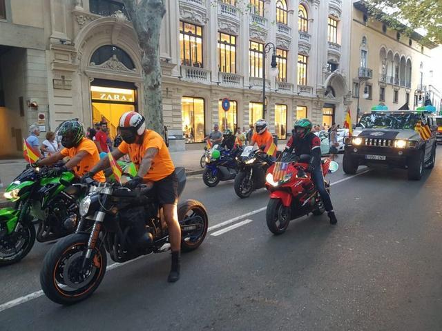 Imagen de la manifestación de policías y guardias civiles en la capital balear este sábado en Palma