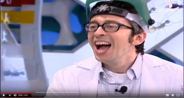 """En el programa """"El Hormiguero"""", Flipy consumió oxido nitroso a través de un globo"""