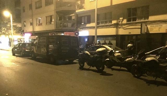 Importante despliegue policial en la operación antidroga realizada en Platja de Palma y Calle Manacor