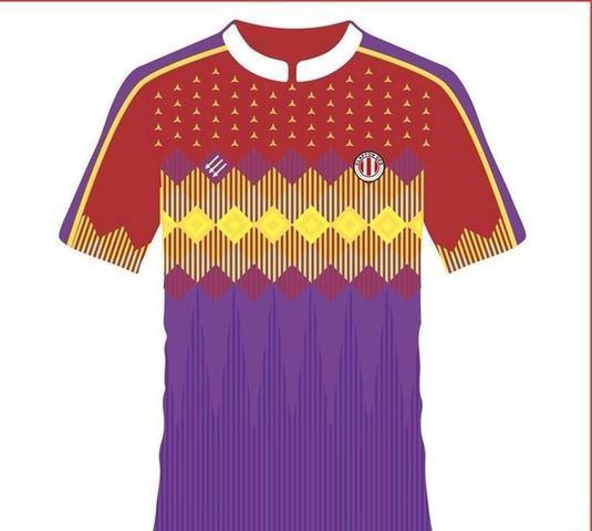 La camiseta visitante del Clapton FC