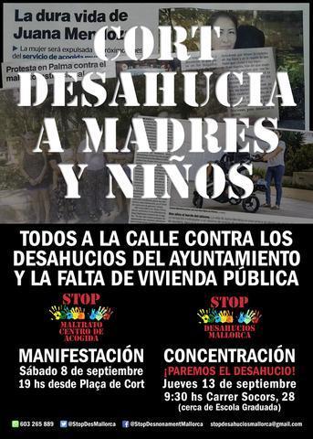 Cartel convocatorias contra el desahucio de Juana Mendoza (Foto: Stop Desahucios)