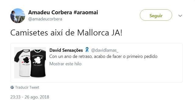El tuit del gallego que publicita en las redes y que Corbera ha utilizado para 'montarla' en las redes