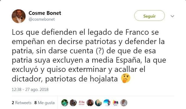 exhumacion franco cosme bonet llama patriotas de hojalata