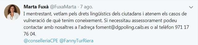 lengua ocb directora general de politica linguistica