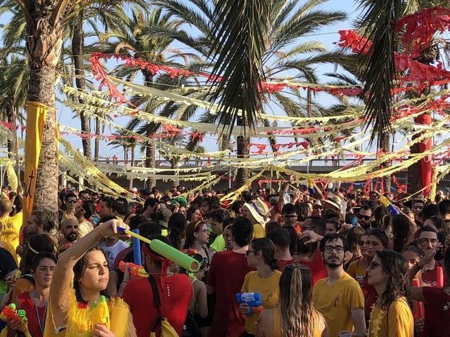 Unas 8000 personas han participado en la batalla (Foto: Twitter Turisme Petit)