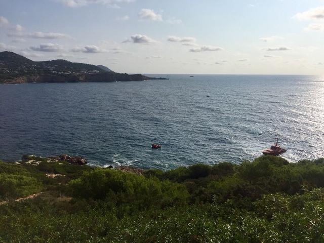 El suceso ha tenido lugar a las 08.40 horas en la zona de s'Illa Grossa