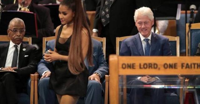 Bill Clinton en el funeral de Franklin