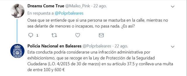 video porno policia nacional dice tuit solo multas entre 100 y 600 euros