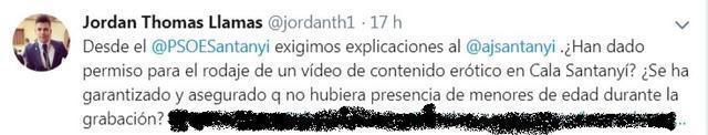 video porno tuit jordan thomas socialista santanyi