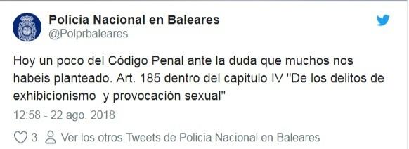 video porno tuit policia nacional grabacion palma