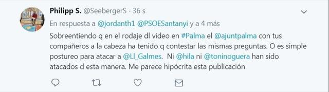 video porno tuit respuesta a jordan thomas socialista santanyi