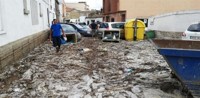 La localidad toledana de Cebolla ha quedado devastada tras la tormenta y las riadas (Foto: Europapress)