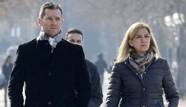 Junto a la Infanta Cristina (Foto: Archivo)