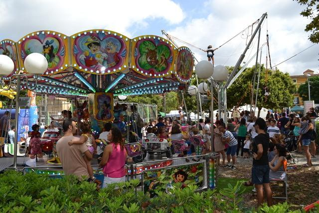 Las atracciones de feria, también presentes (Foto: Aj Manacor)