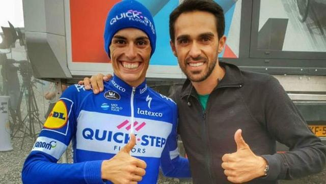 Enric Mas y Alberto Contador