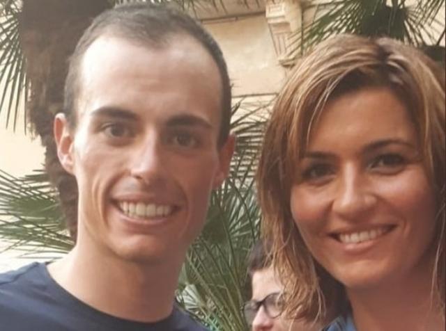 Enric Mas con la consellera insular de Deportes, Marga Portell