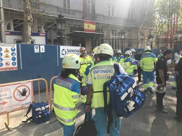 Los servicios médicos han atendido a todos los heridos en el accidente laboral (Foto: Facebook)