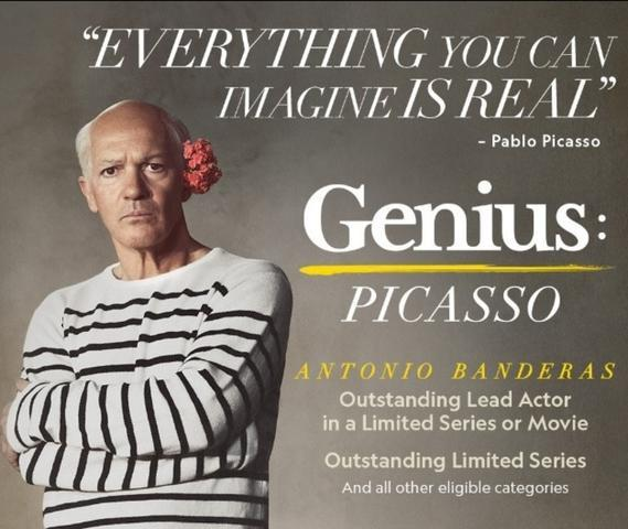 Cartel de Genius: Picasso, por cuyo papel fue nominado a los Emmy Antonio Banderas