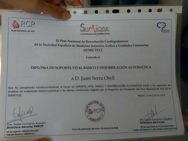 Uno de los diplomas otorgados (Foto: Aj Ses Salines)