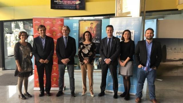 En la presentación de la película del Centenario del RCD Mallorca