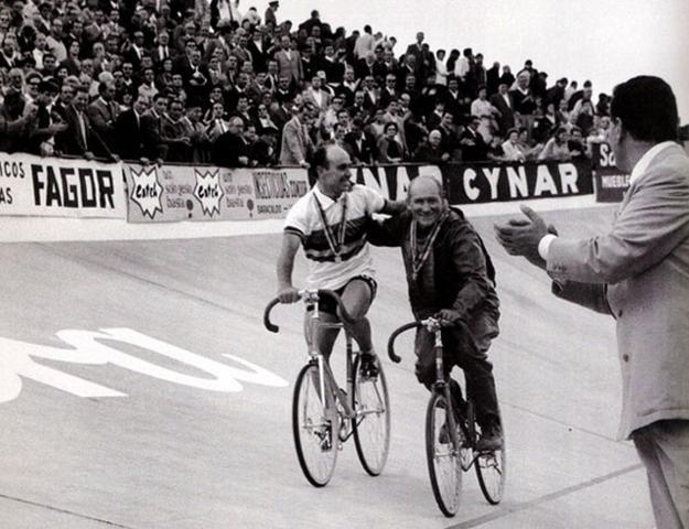 Timoner, en el velódromo de Anoeta el 12 de septiembre de 1965