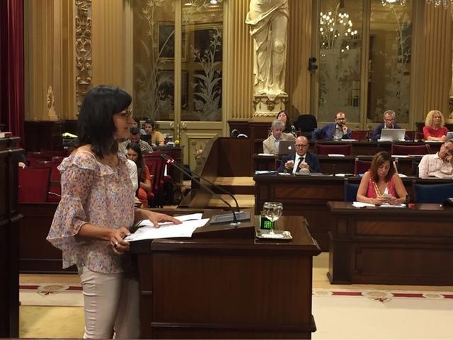 La portavoz adjunta de los socialistas, María José Camps (Foto: PSIB PSOE)