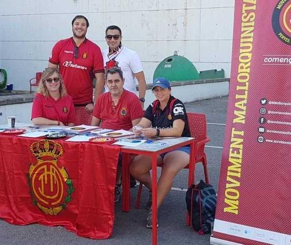 En el partido ante el Albacete, Moviment Mallorquinista habilitó un punto de información en los aledaños de Son Moix