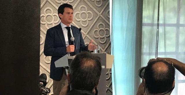 El exprimer ministro francés durante la presentación de su candidatura (Foto: Twitter)