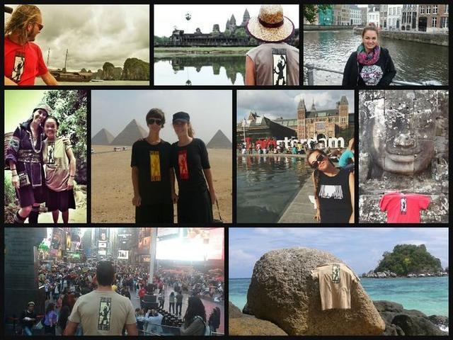 La familia no duda en lucir las camisetas del colectivo alrededor del mundo (Foto: Facebook Zulos Club Mallorca)