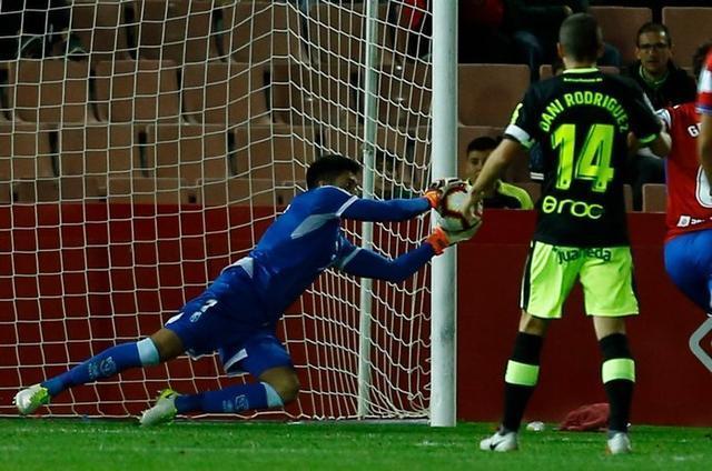 La actuación de Rui Silva ha sido determinante (Foto: Twitter Granada FC)