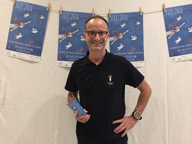 El presidente de la Xerxa de Teatre de les Illes Balears, Jaume Gomila, la entidad organizadora de la Fira de teatre infantil i juvenil de les Illes Balears