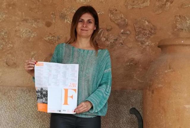 La regidora de Festes de Campos, Agustina Sunyer
