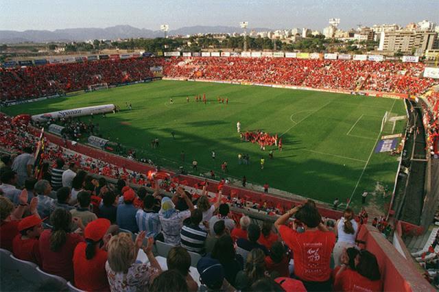 Panorámica del estadio en el penúltimo partido de Liga disputado por el primer equipo