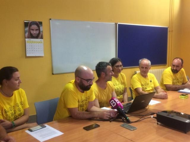 Miembros del colectivo durante la presentación (Foto: Europa Press)
